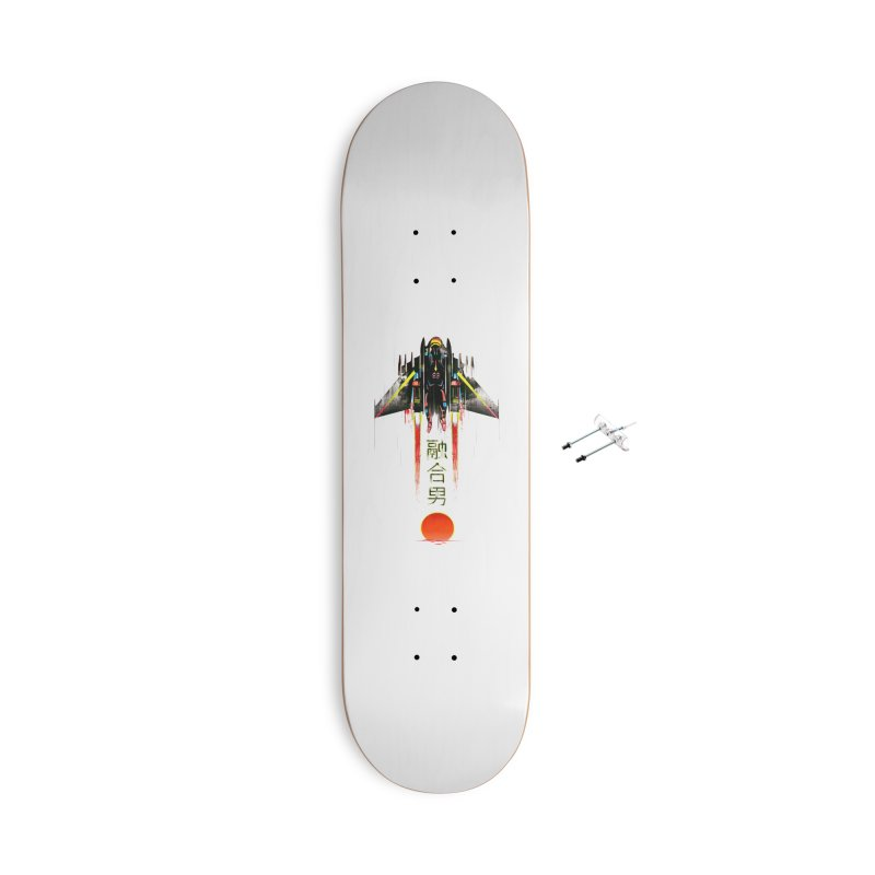 Fusionman Accessories With Hanging Hardware Skateboard by Dega Studios