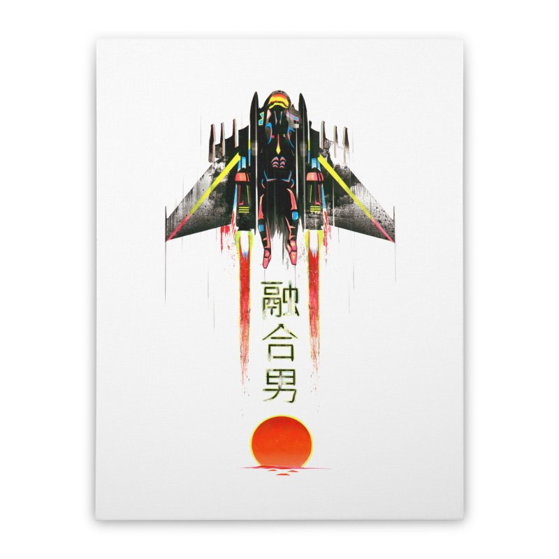 Fusionman Home Stretched Canvas by Dega Studios