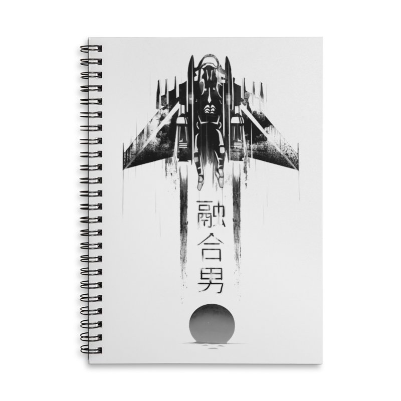 Fusionman - LoFi Edition Accessories Lined Spiral Notebook by Dega Studios
