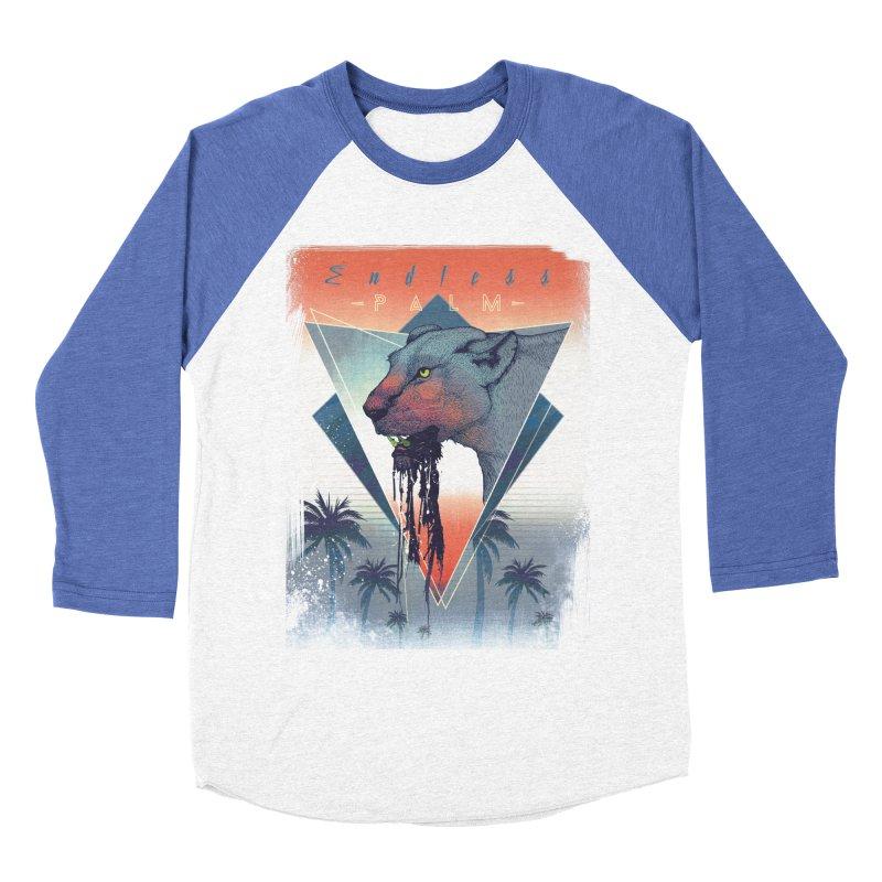 Endless Palm Women's Baseball Triblend Longsleeve T-Shirt by Dega Studios