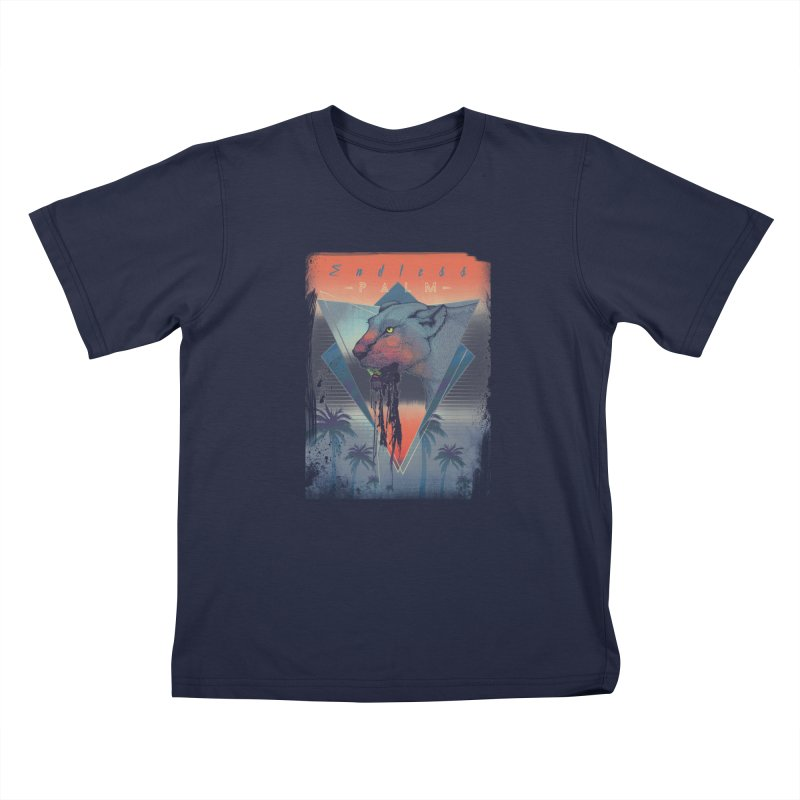 Endless Palm Kids T-Shirt by Dega Studios