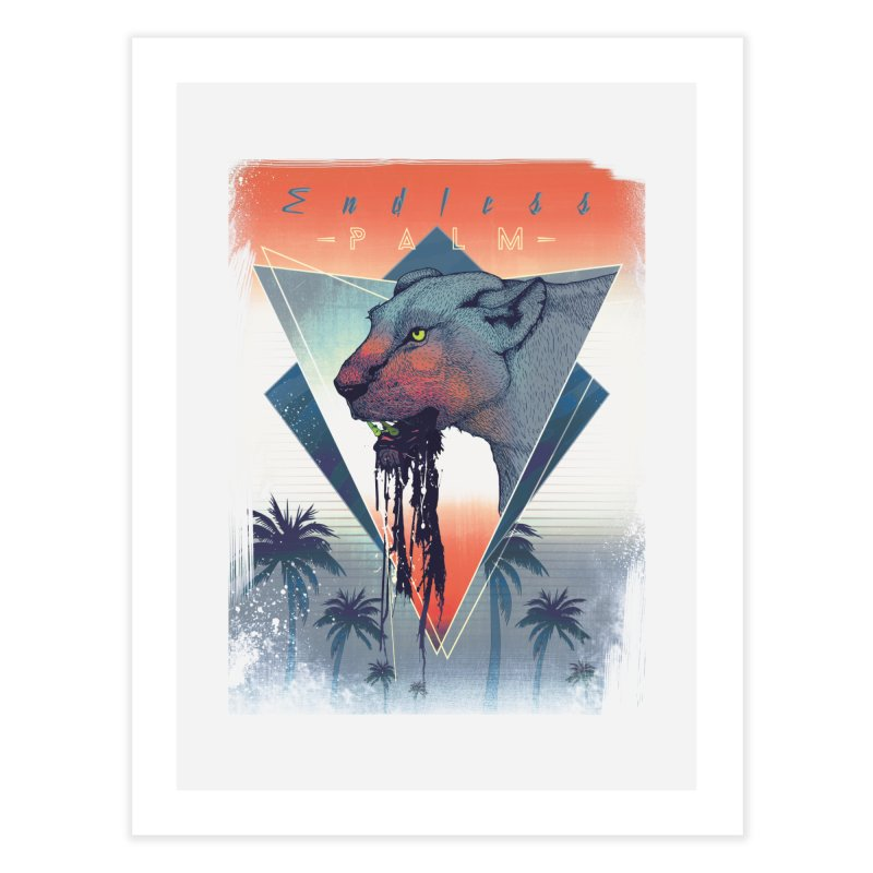 Endless Palm Home Fine Art Print by Dega Studios