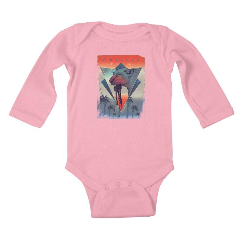 Endless Palm Kids Baby Longsleeve Bodysuit by Dega Studios