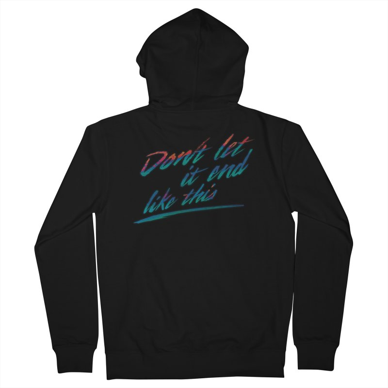 Last Words Men's Zip-Up Hoody by Dega Studios