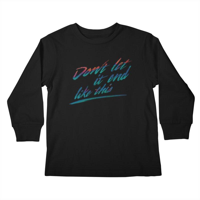 Last Words Kids Longsleeve T-Shirt by Dega Studios