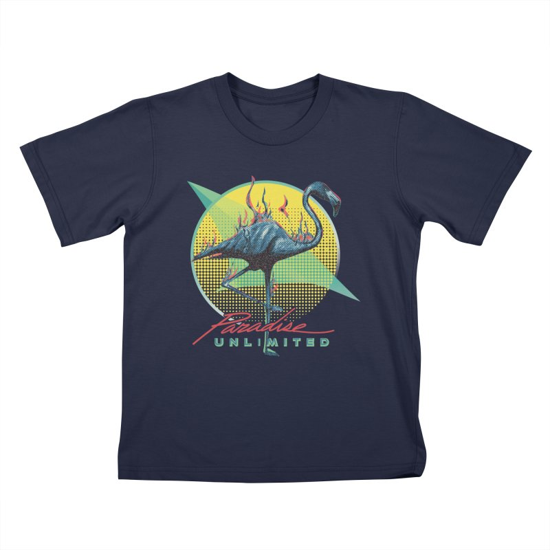 Paradise Unlimited Kids T-Shirt by Dega Studios