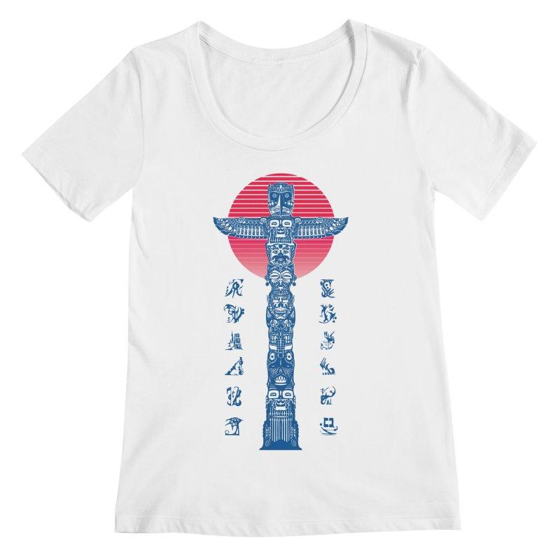 Totem Reserrection Women's Regular Scoop Neck by Dega Studios