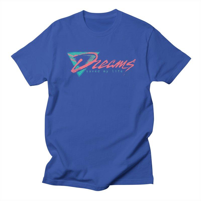 Dreams Saved My Life in Men's Regular T-Shirt Royal Blue by Dega Studios