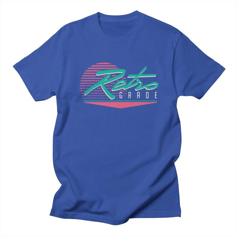 Retro Grade in Men's Regular T-Shirt Royal Blue by Dega Studios
