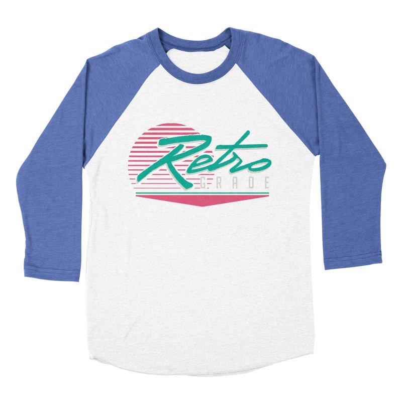 Retro Grade Men's Baseball Triblend Longsleeve T-Shirt by Dega Studios