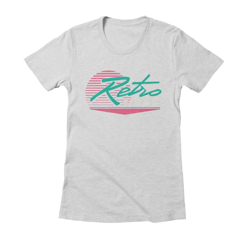 Retro Grade Women's Fitted T-Shirt by Dega Studios