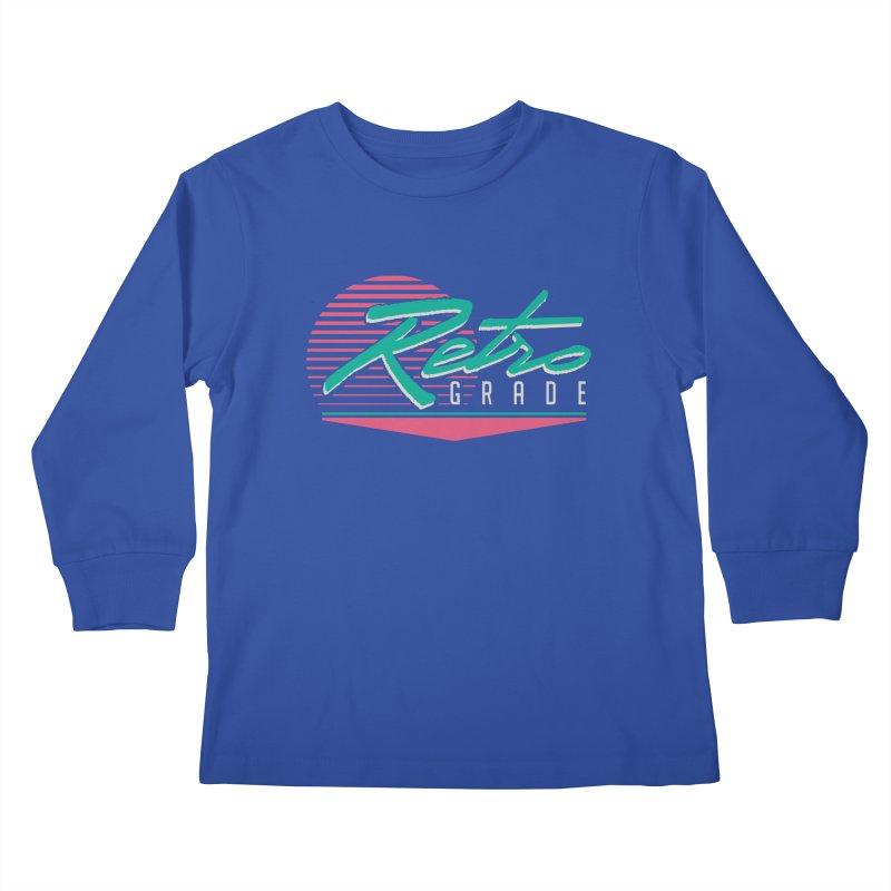 Retro Grade Kids Longsleeve T-Shirt by Dega Studios