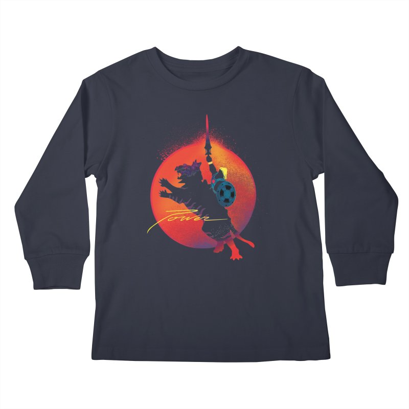 Power Kids Longsleeve T-Shirt by Dega Studios