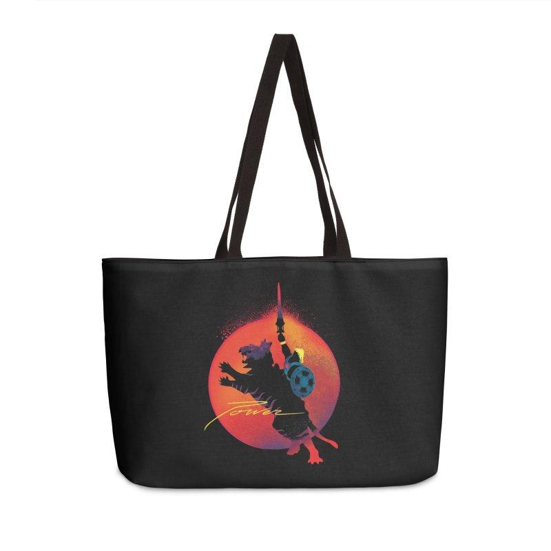 Power Accessories Weekender Bag Bag by Dega Studios