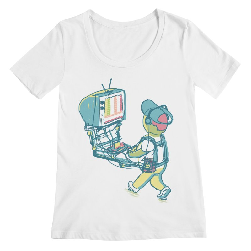 kids these days Women's Regular Scoop Neck by Dega Studios