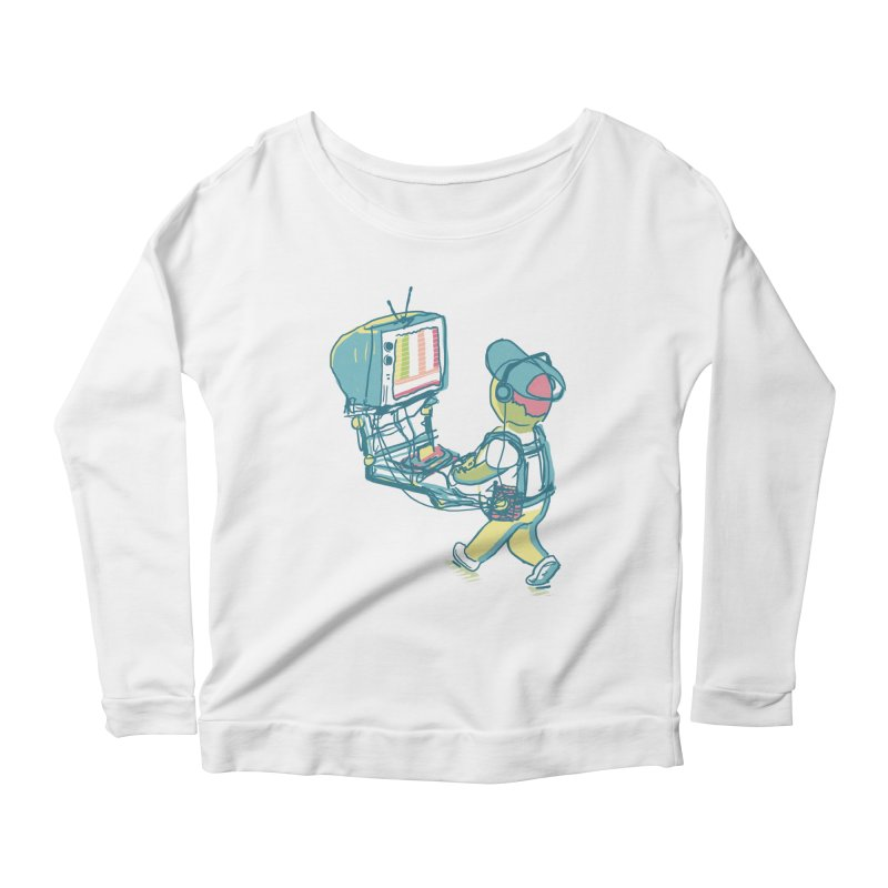 kids these days Women's Scoop Neck Longsleeve T-Shirt by Dega Studios