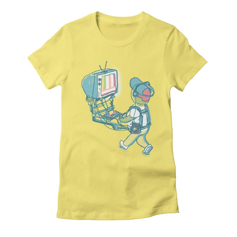 kids these days Women's Fitted T-Shirt by Dega Studios