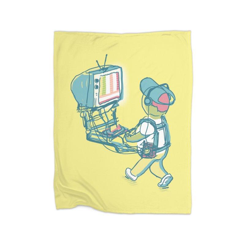 kids these days Home Fleece Blanket Blanket by Dega Studios