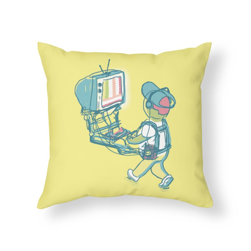 kids these days Home Throw Pillow by Dega Studios