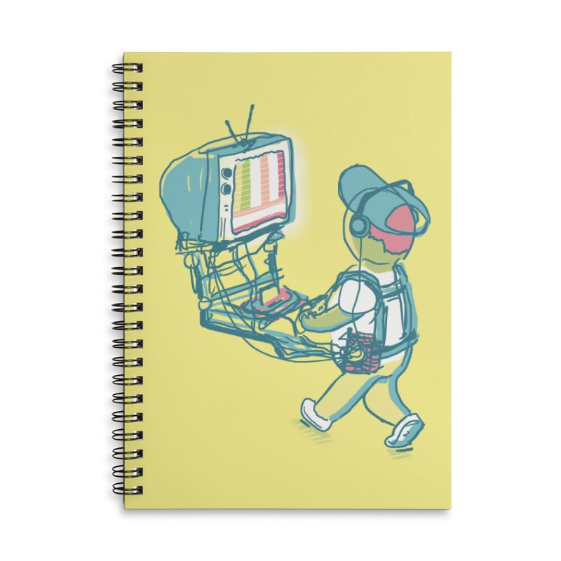 kids these days Accessories Lined Spiral Notebook by Dega Studios