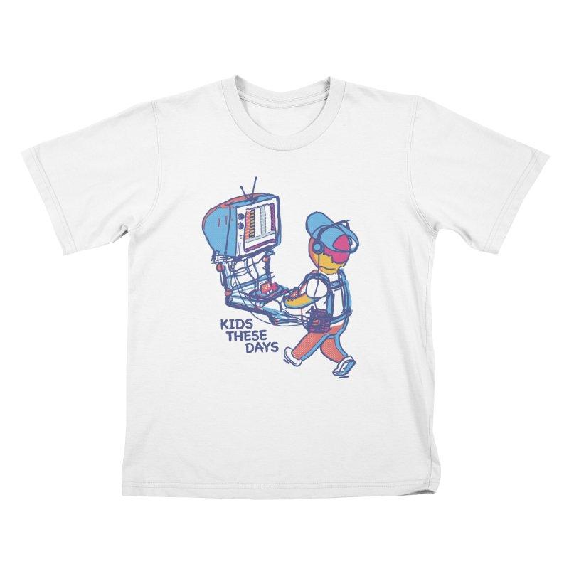 kids these days Kids T-Shirt by Dega Studios