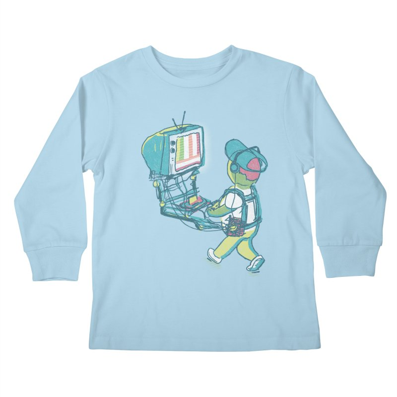 kids these days Kids Longsleeve T-Shirt by Dega Studios