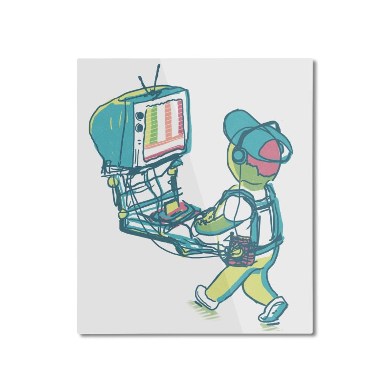 kids these days Home Mounted Aluminum Print by Dega Studios