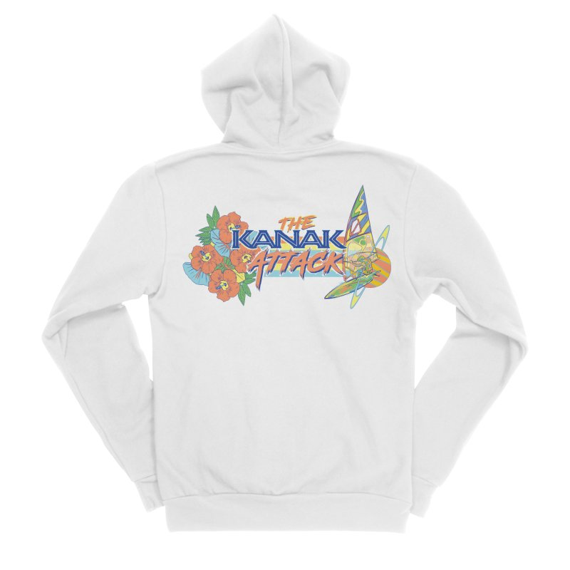 The Kanak Attack Men's Sponge Fleece Zip-Up Hoody by Dega Studios