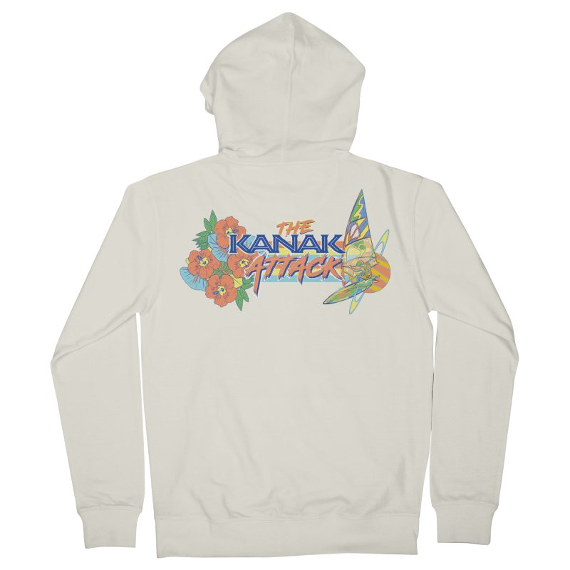 The Kanak Attack Women's French Terry Zip-Up Hoody by Dega Studios