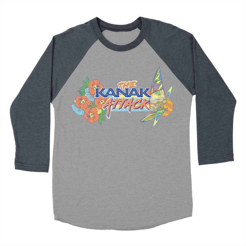 The Kanak Attack Men's Baseball Triblend Longsleeve T-Shirt by Dega Studios