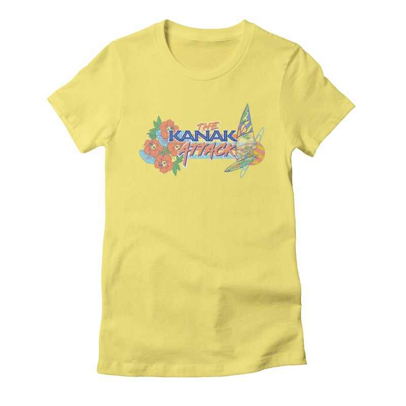 The Kanak Attack Women's Fitted T-Shirt by Dega Studios