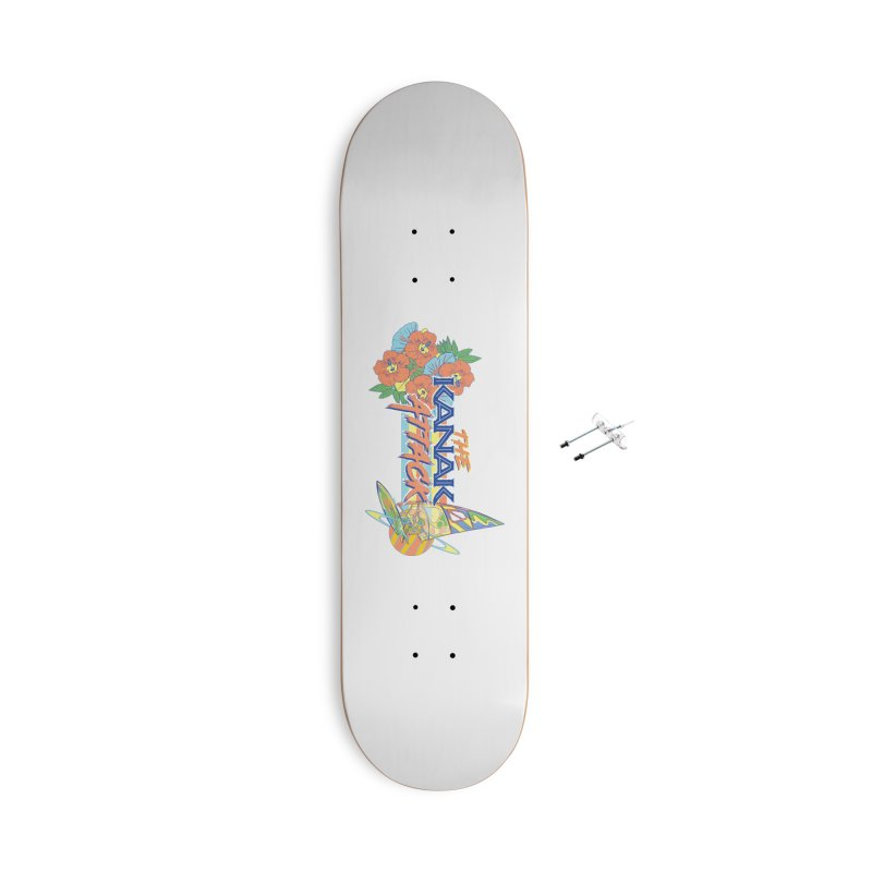 The Kanak Attack Accessories With Hanging Hardware Skateboard by Dega Studios