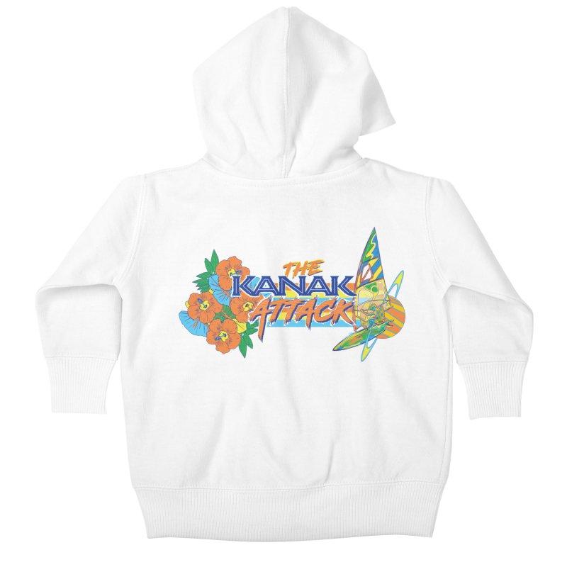 The Kanak Attack Kids Baby Zip-Up Hoody by Dega Studios
