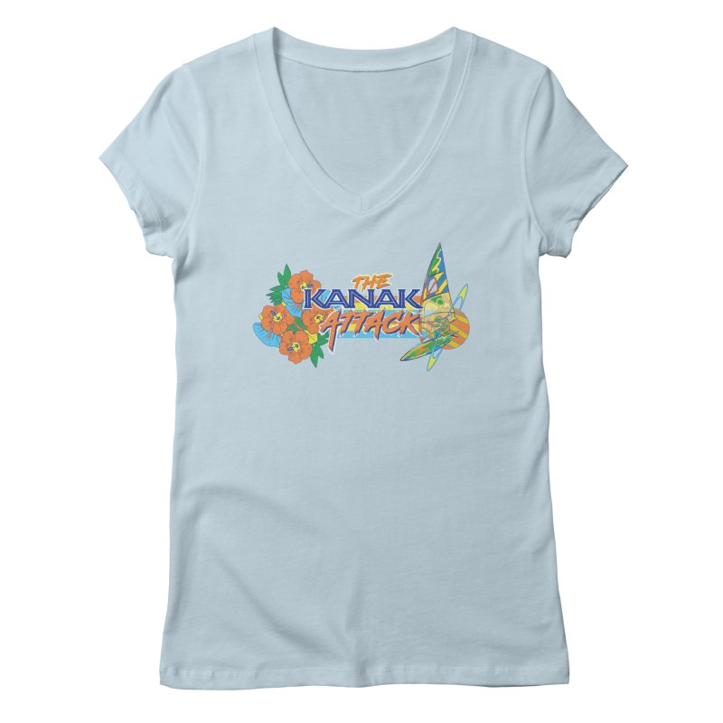 The Kanak Attack Women's Regular V-Neck by Dega Studios