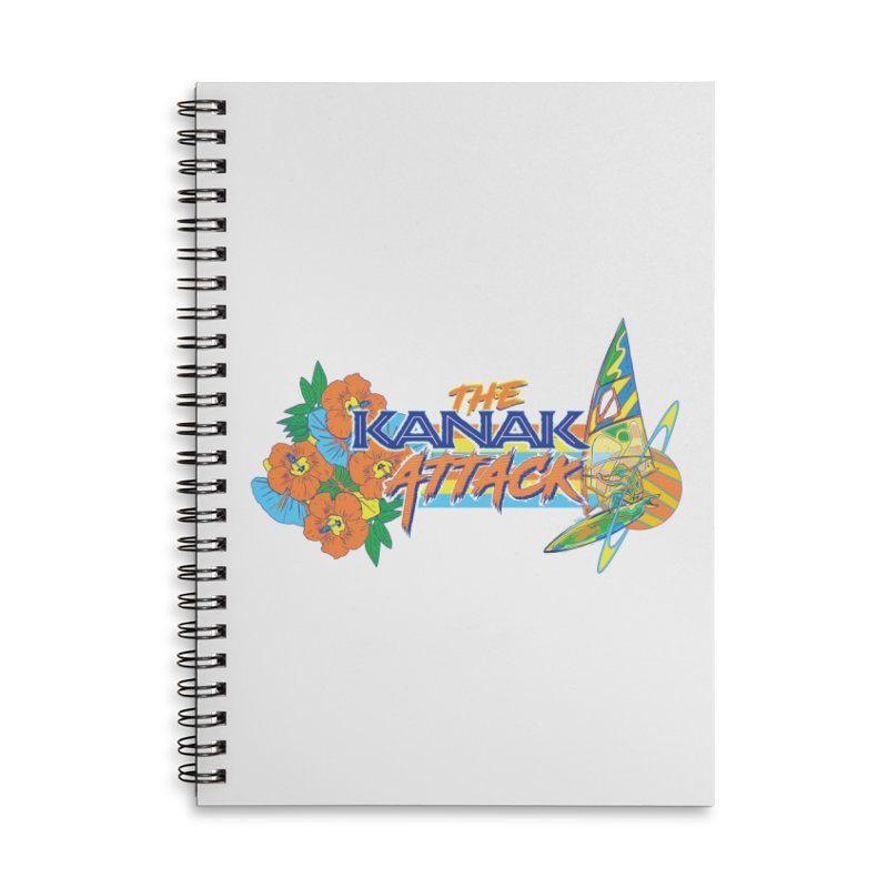 The Kanak Attack Accessories Lined Spiral Notebook by Dega Studios