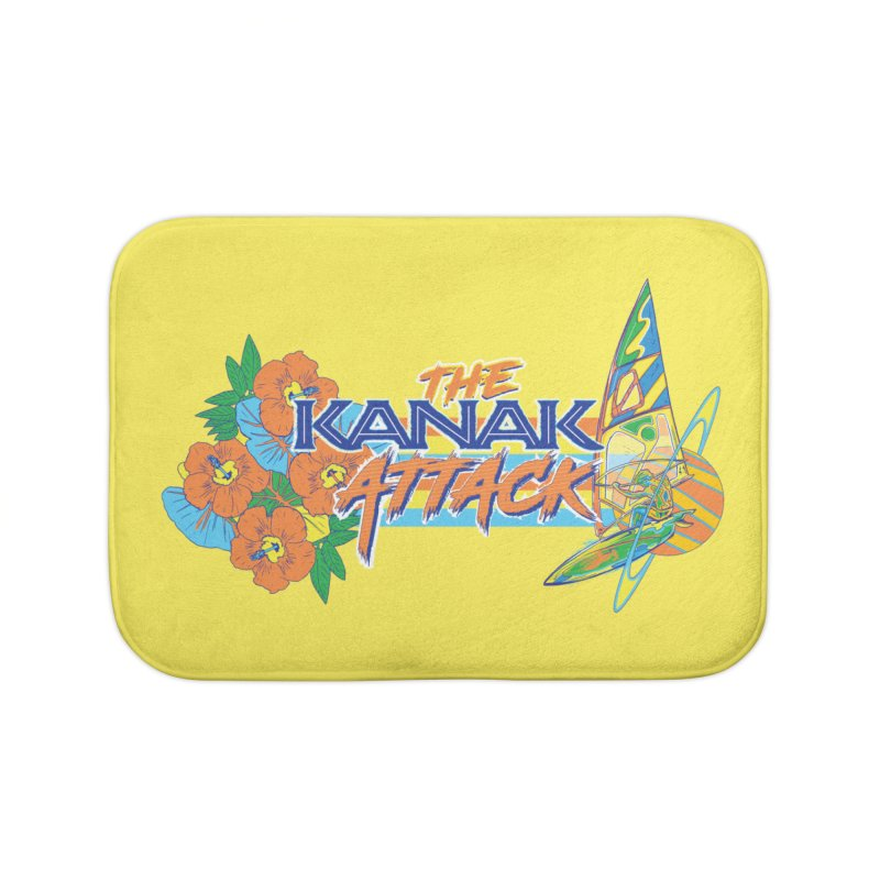 The Kanak Attack Home Bath Mat by Dega Studios