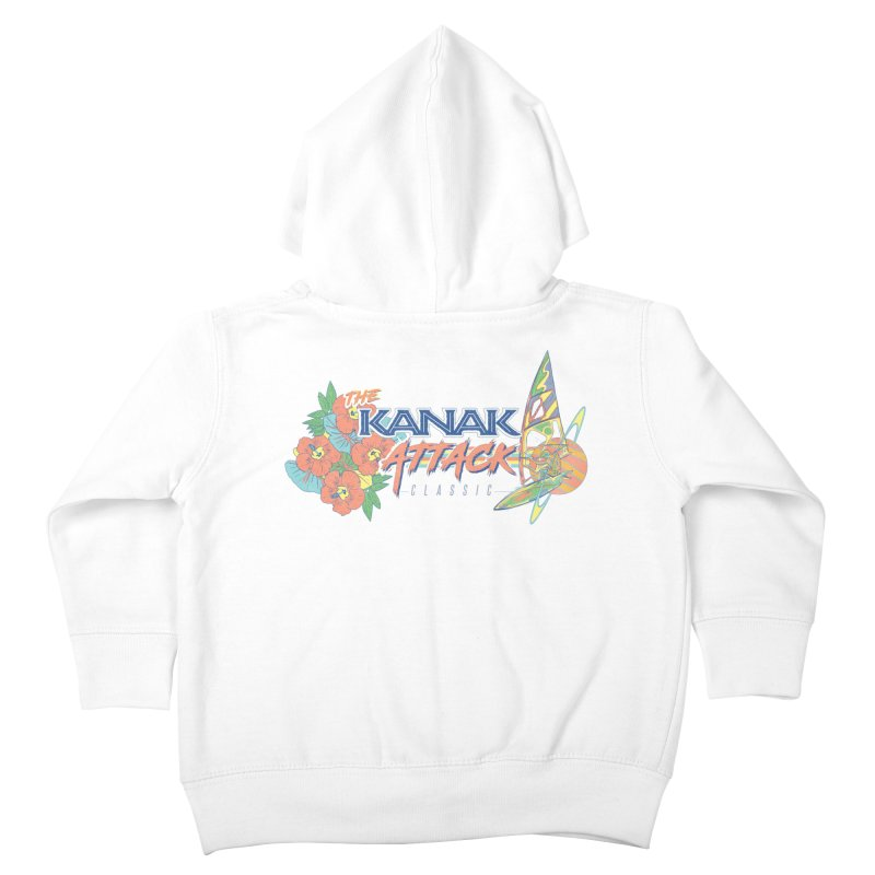 The Kanak Attack Classic Kids Toddler Zip-Up Hoody by Dega Studios