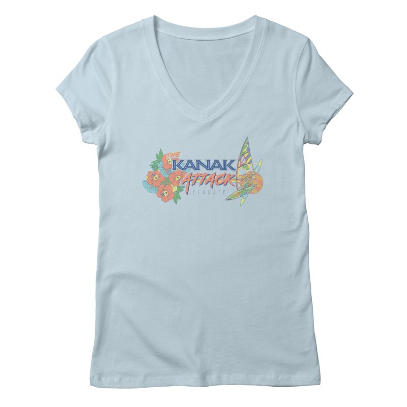 The Kanak Attack Classic Women's Regular V-Neck by Dega Studios