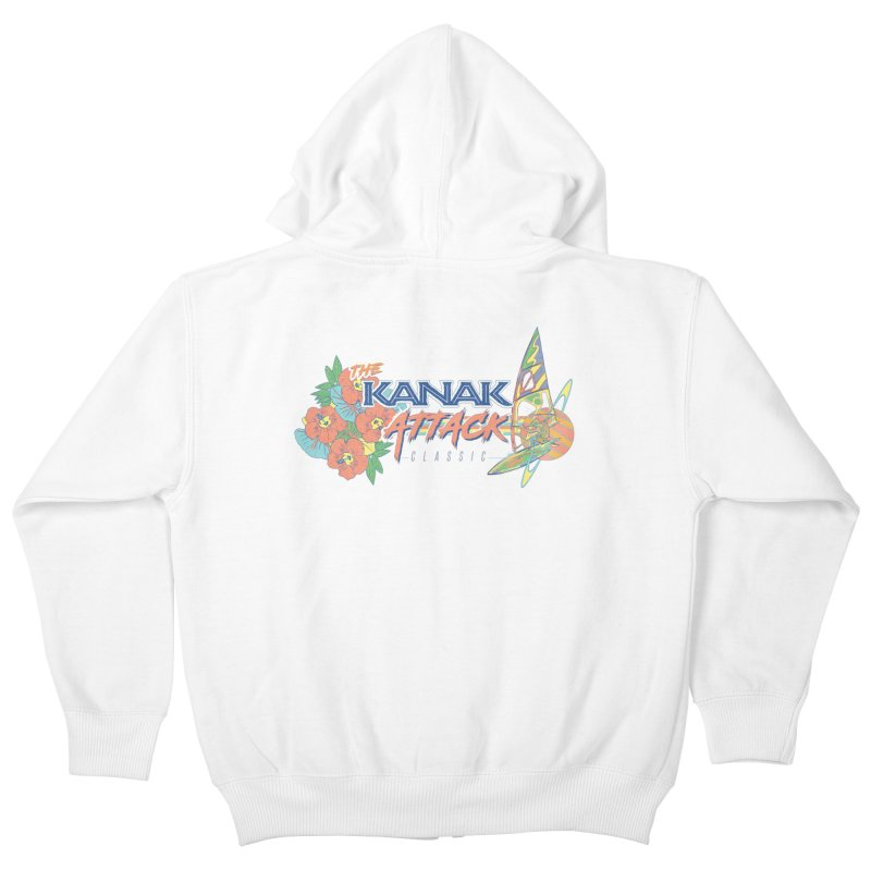The Kanak Attack Classic Kids Zip-Up Hoody by Dega Studios