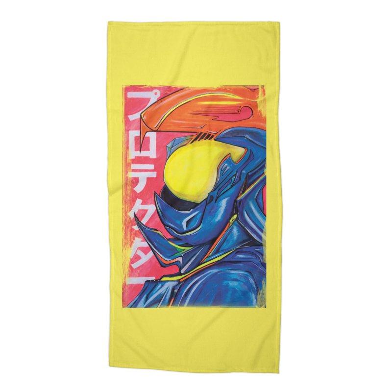P R O T E C T O R Accessories Beach Towel by Dega Studios