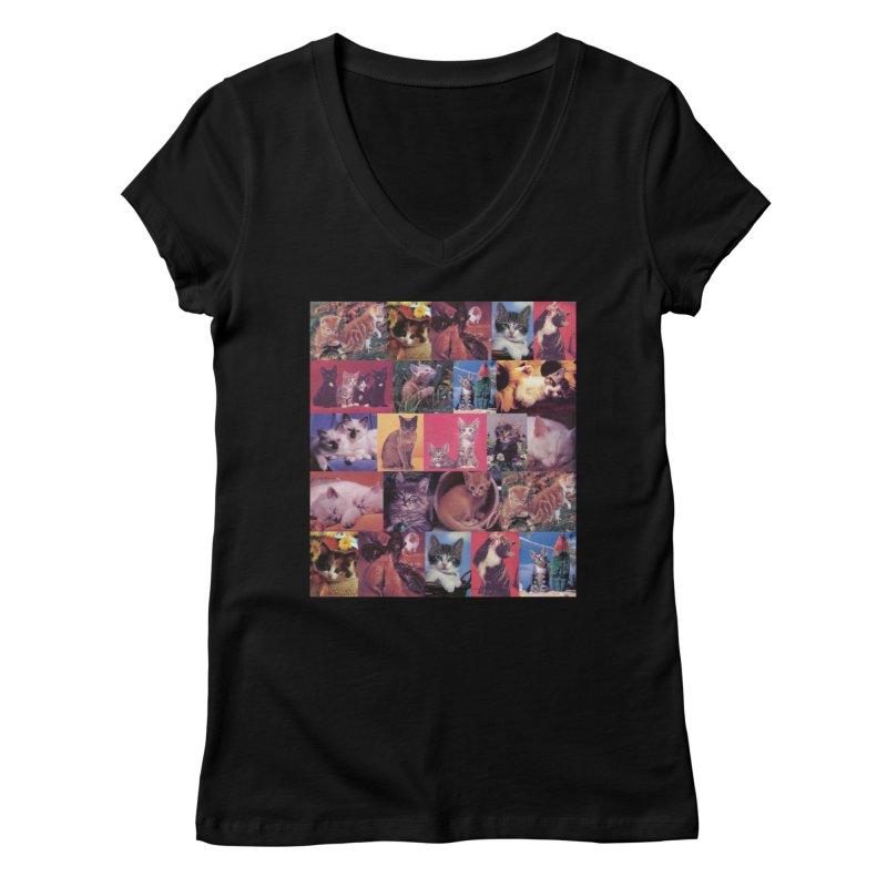 kit-tee Women's V-Neck by Dega Studios