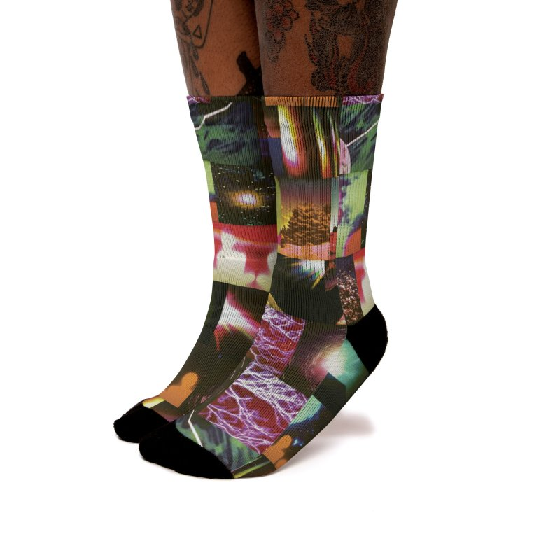 Light Body Experimental Women's Socks by Dega Studios