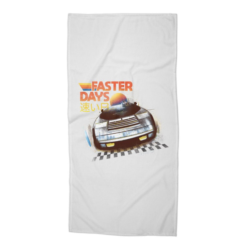 Faster Days Accessories Beach Towel by Dega Studios