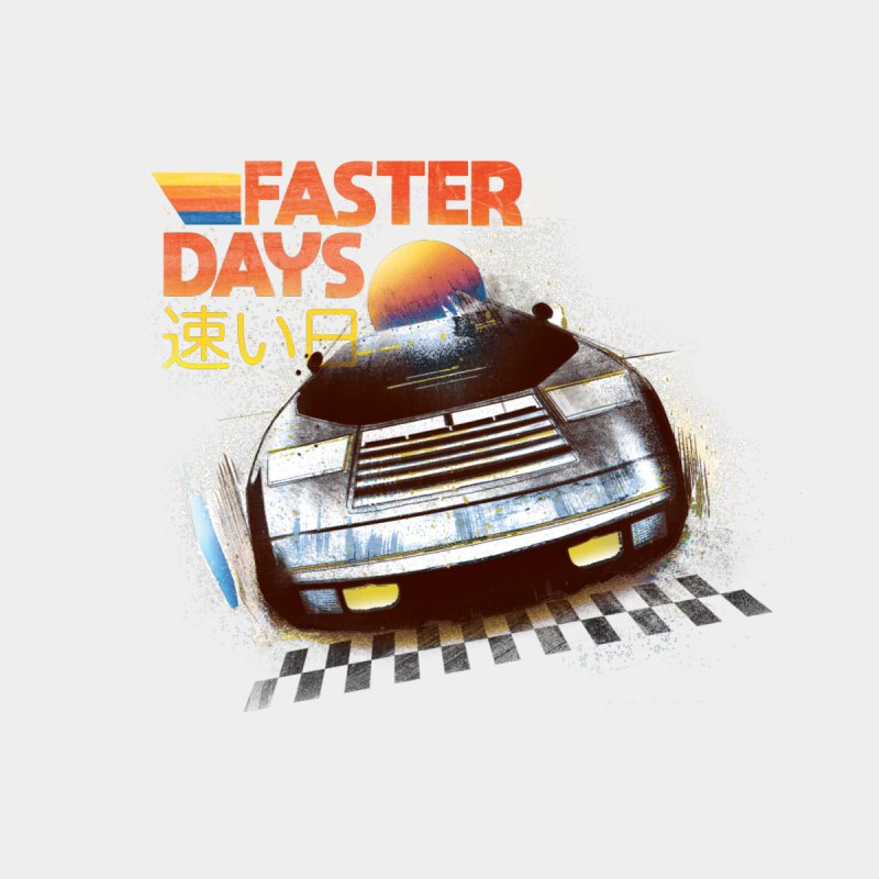 Faster Days Accessories Zip Pouch by Dega Studios