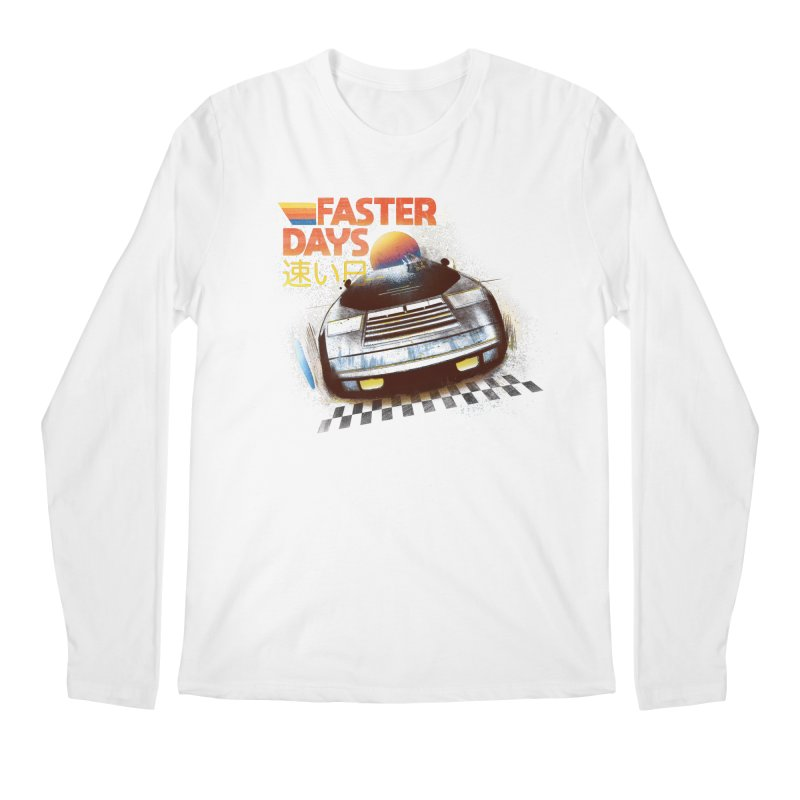 Faster Days Men's Longsleeve T-Shirt by Dega Studios