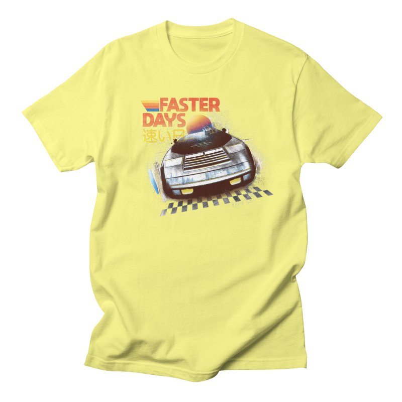 Faster Days Men's T-Shirt by Dega Studios