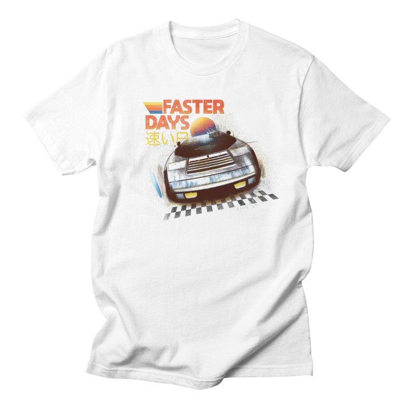 Faster Days Men's T-Shirt by Dega Studios