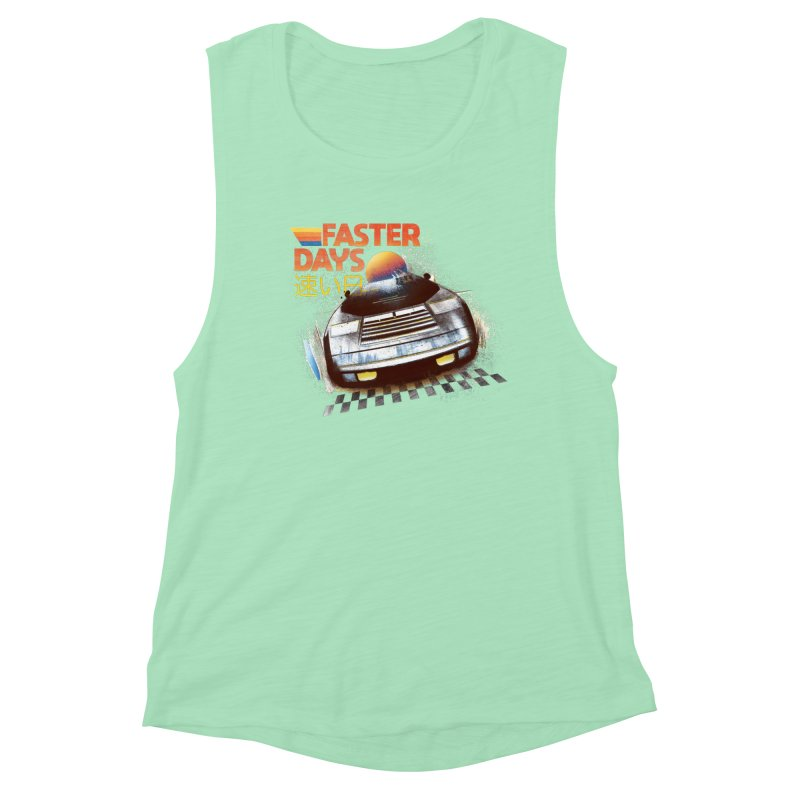 Faster Days Women's Tank by Dega Studios