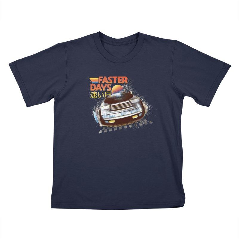 Faster Days Kids T-Shirt by Dega Studios