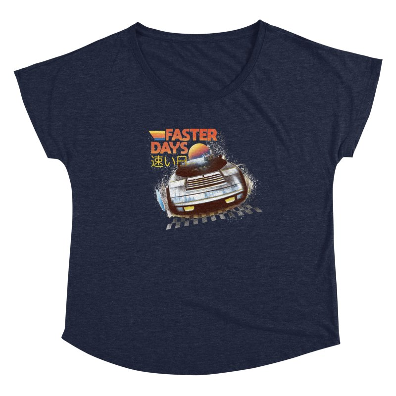 Faster Days Women's Scoop Neck by Dega Studios